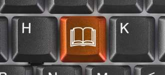 keyboard with book key