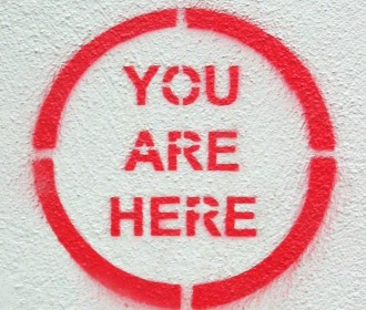 you are here stencil