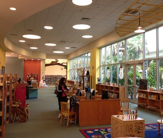 interior of Charlotte County , Florida, library