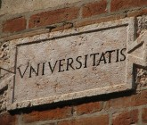 university sign (in latin)