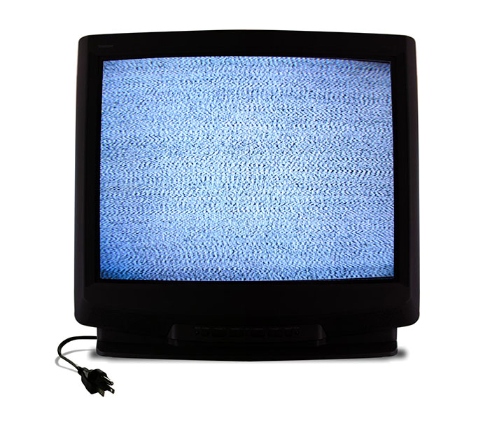 television with static
