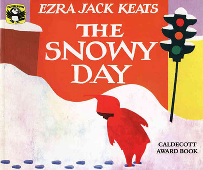 book cover a snowy day by ezra jack keats
