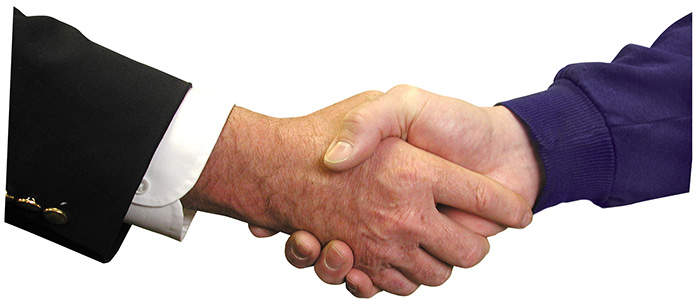 a handshake between two people
