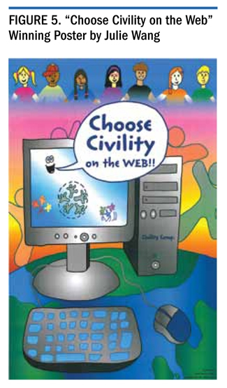 "Figure 5. ""Choose Civility on the Web"" Winning Poster by Julie Wang"