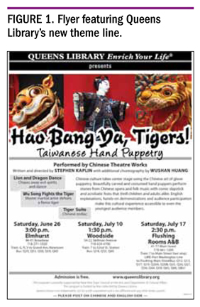 Figure 1. Flyer Featuring Queens Library's New Theme Line