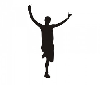 image of person winning running race