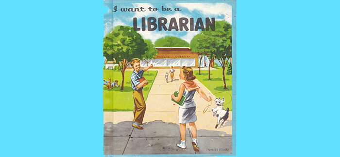 cover of a vintage book about librarianship