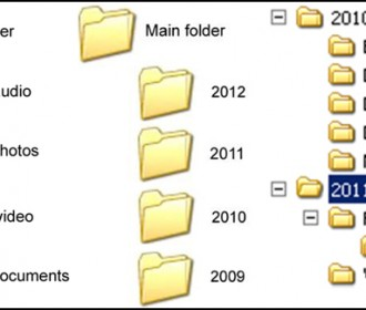 screen shot of files