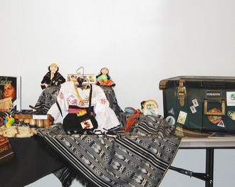 display of cultural items