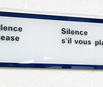 Sign - Silence Please