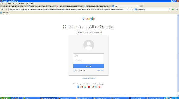 Gmail home page screen shot