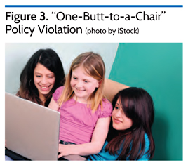 """One-Butt-To-A-Chair"" Policy Violation"