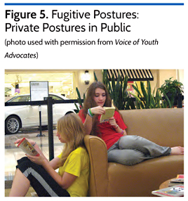 Fugitive Postures: Private Postures on Public
