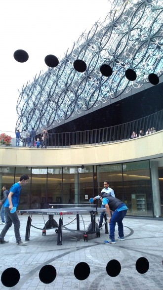 Table tennis at the Library of Birmingham