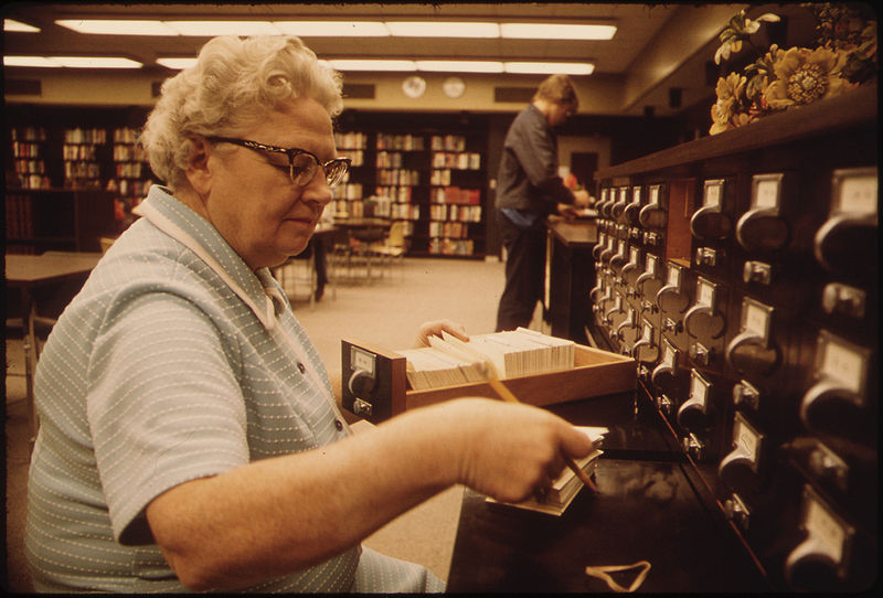 old librarian