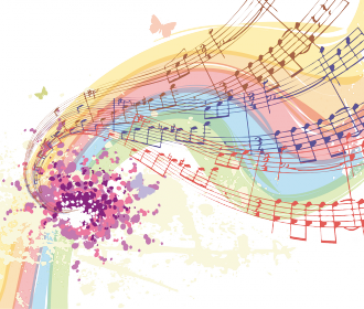 Colorful music score