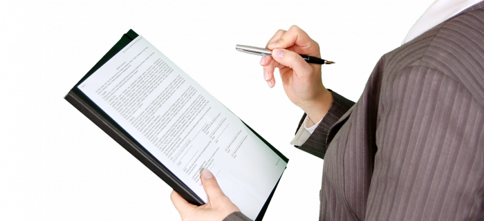woman filling out an application