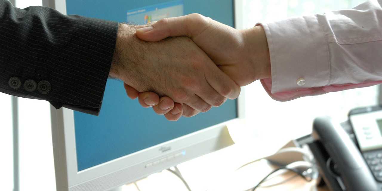 Two male hands in a handshake