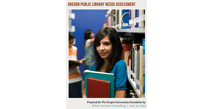 Cover of Oregon Public Library Needs Assessment Report