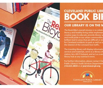 Cleveland Public Library Book Bike brochure
