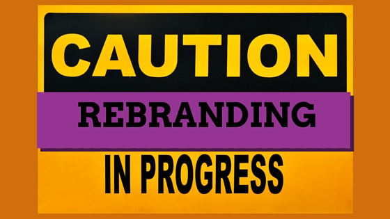 Sign - Caution Rebranding in Progress