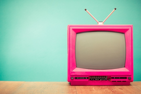 pink television