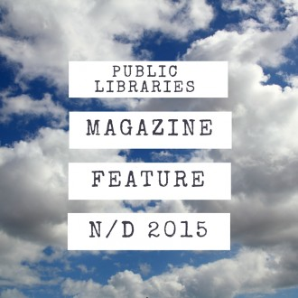 public libraries magazine feature article november/december 2015 on a background of clouds