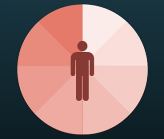 image of a person on a color chart