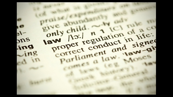 dictionary entry for the word law