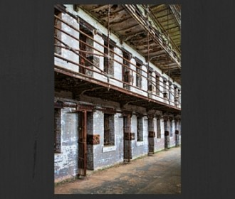 row of prison cells
