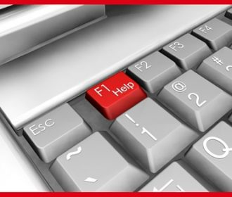 keyboard with red help key