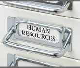 flle drawer labeled human resources