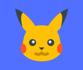 Pikachu on blue background