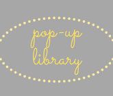 pop up library sign