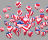 red white and blue ballons
