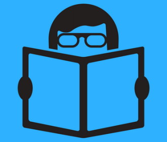 illustration of person reading
