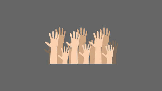 illustration of arms waving