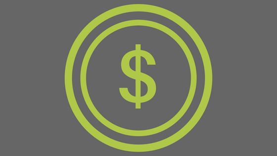 green dollar sign on gray background