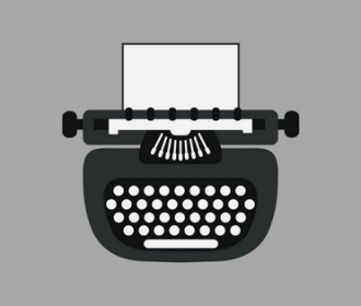 illustration of a typewriter