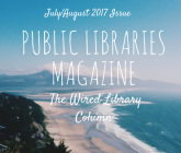 Public Libraries magazine - July August issue background photo of ocean and beach