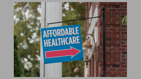 affordable healthcare sign