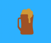 illustration of mug of beer with foam