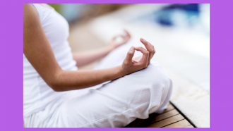 person in simple seated yoga position