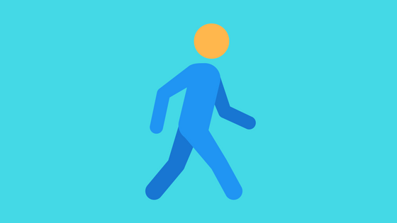 person walking symbol