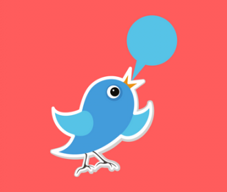 twitter bird with thought bubble