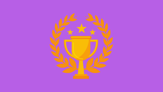 illustration of trophy and laurel wreath