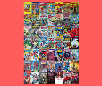 collage of comic book covers