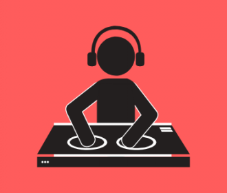 Illustration of a DJ