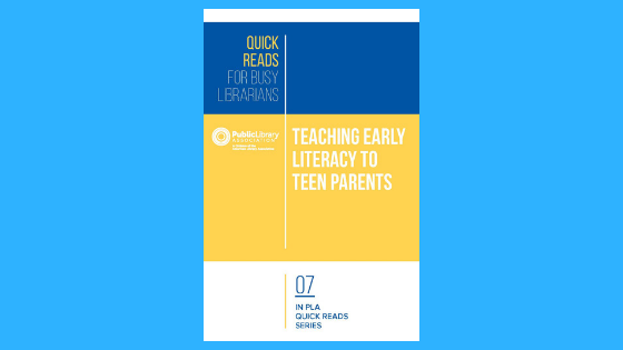 cover of teaching early literacy to teen parents book