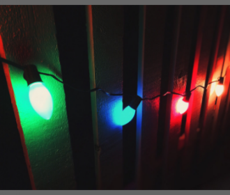 photographic image of xmas lights